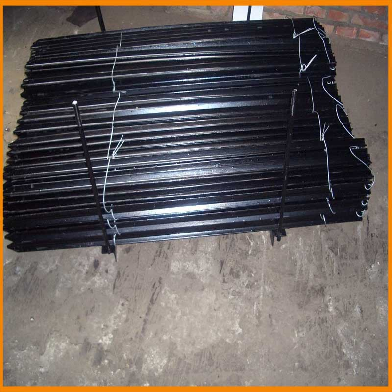 Hot sale black painted field y fence post standard size