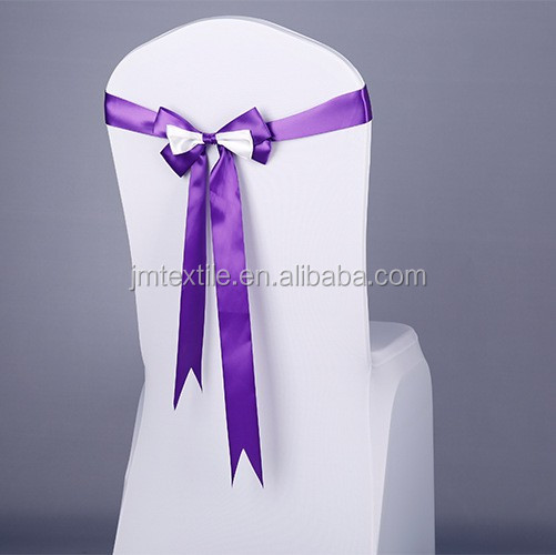 factory cheap spandex chair covers wedding satin chair sashes for sale