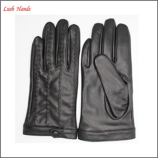 2017 new style women Black driving leather gloves