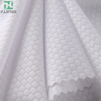 Factory Price 15 Spandex 85 Nylon Elastic Honeycomb Jacquard Fabric