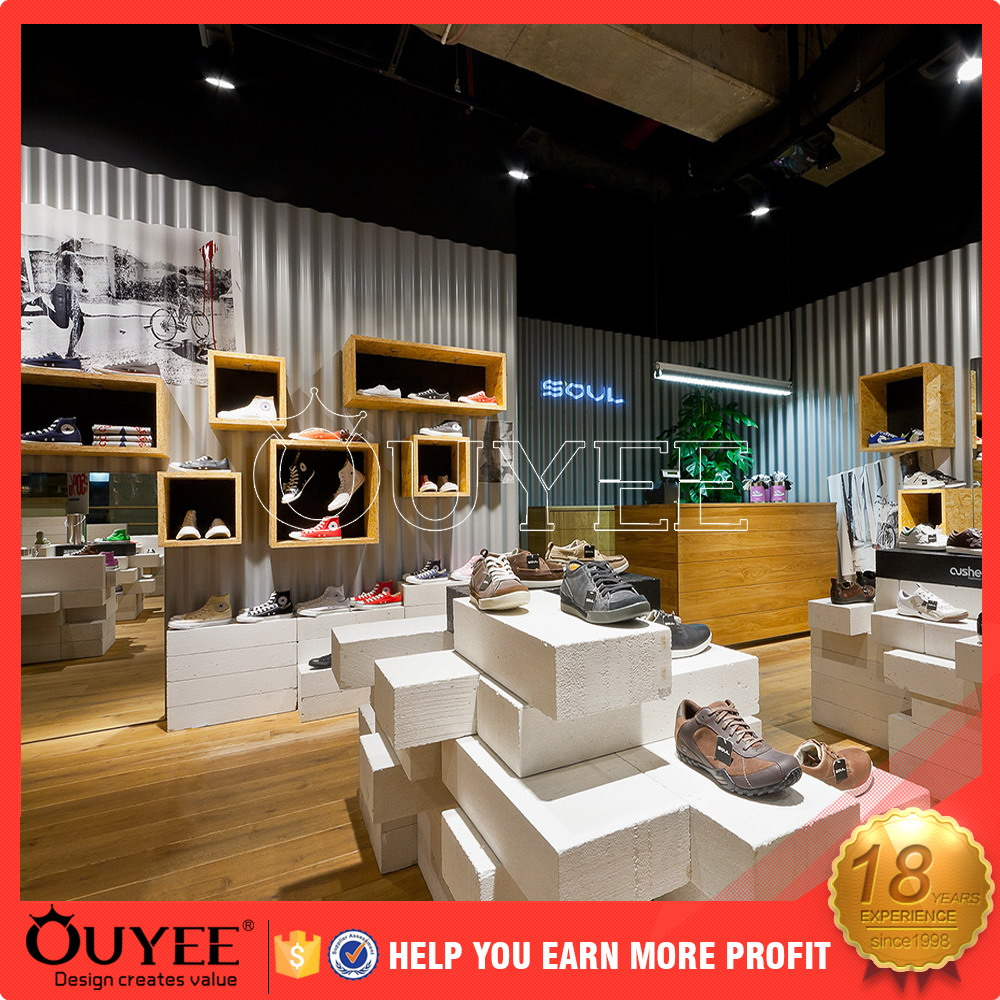 factory price cloth store design ouyee206 acrylic jewelry display counter
