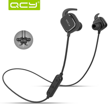 QCY QY12 Wireless Sport Bluetooth 4.1 Stereo Headset Ear Buds Earphones Magnetic switch Earphone with mic for iphone xiaomi