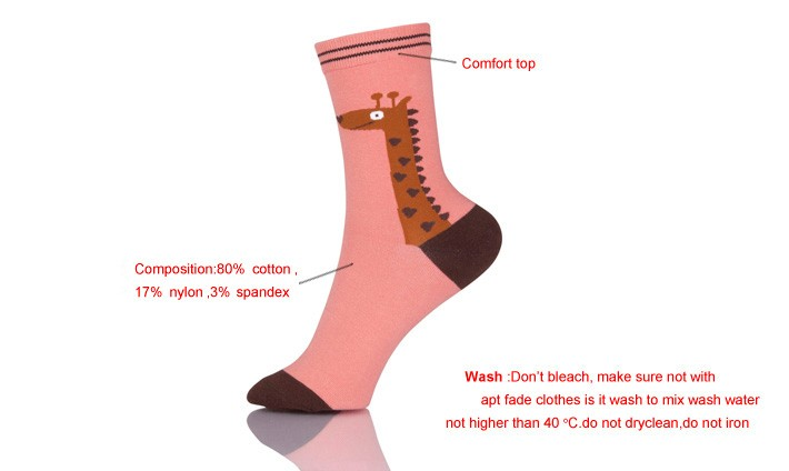 Cotton Knitted Animal Designed Own Socks