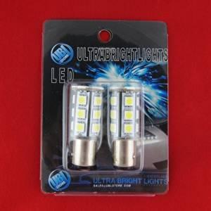 UBL 21-LED 1157 Car Turn Signal / Brake / Tail Lights (1157, 1154, 1034, 2057, 2357, 2397, 3496, 7528) 6000K Bright White