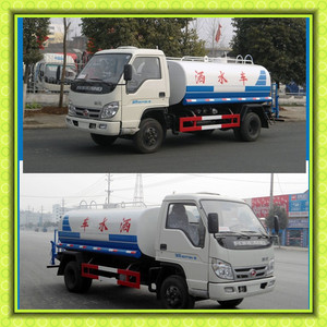 Foton 6000 liters New Water tank Truck for sale with manufacturer price, 4x2 6 tons Watering Bowser Sprinkler vehicle
