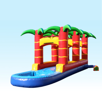 Tropical Slip N Slide , single lane run and splash slide for sale