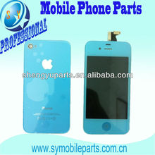 Brand New LCD For IPhone 4 LCD With Touch Blue Color with Back cover and Home Button