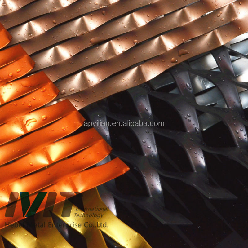 Vinyl Coated Expanded Metal for decoration