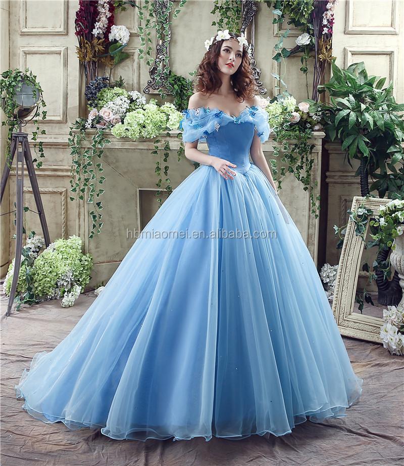 Cinderella Dress Organza Ball Gown Wedding Dresses 2017 Sleeveless