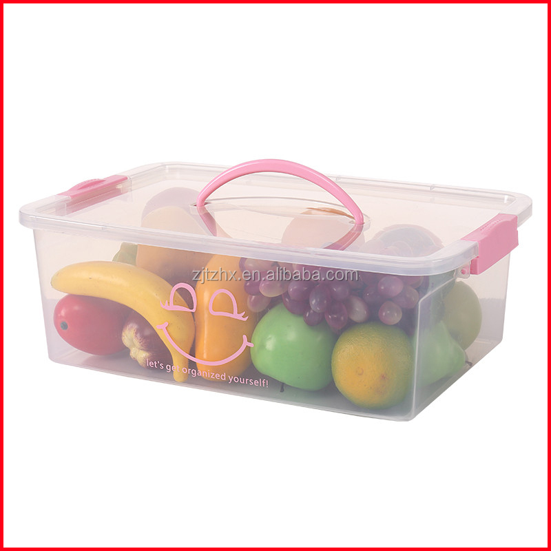 Plastic Storage Box With Handle 10l Supplieranufacturers At Alibaba