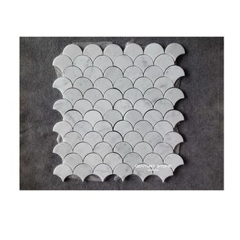 Italienne Bianco Carrara Écaille De Poisson De Marbre Blanc - Carrelage écaille