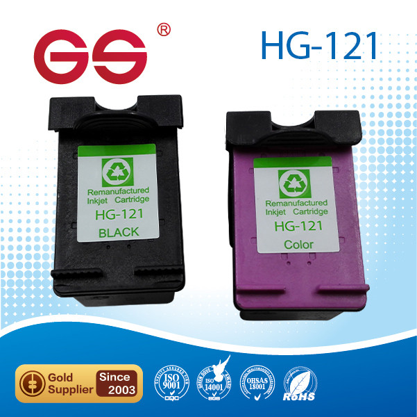 Remanufactured ink cartridges for printer for hp 121 bk