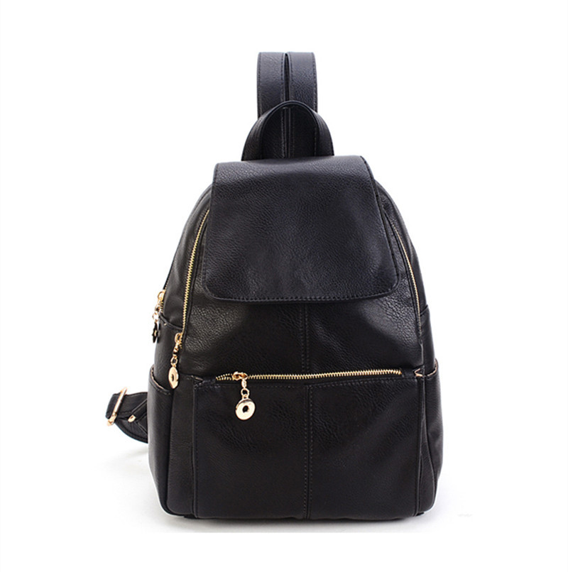 Fashion bag women PU leather backpack girls backpack for teenage girls school bags for teenagers women backpack casual simple