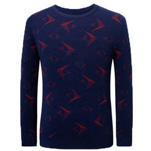 Best Selling Knitwear 3D Print Multicolor Men's Sweater