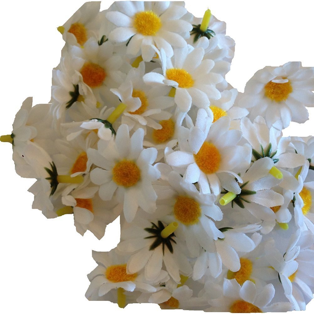 Buy 100pcs white mini silk flower heads gerber daisies artificial white mini silk flower heads gerber daisies artificial flowers wholesale lot for mightylinksfo