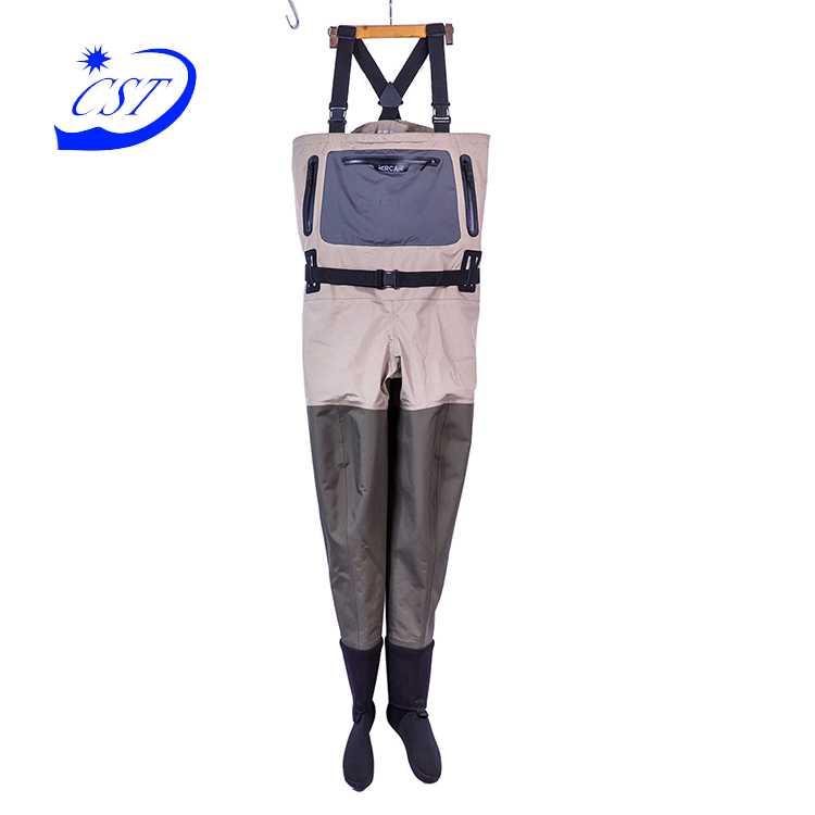 China manufacturer pvc camouflage waders shoes high quality wader fishing suit