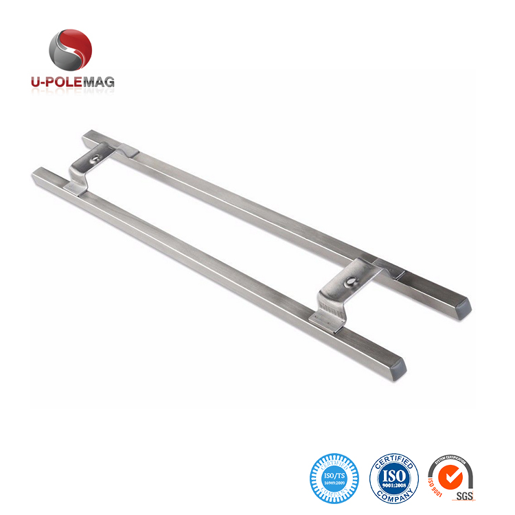 16 Inch Stainless Steel Rectangular Tube Magnetic Knife Holder includes 6 Removable Hooks