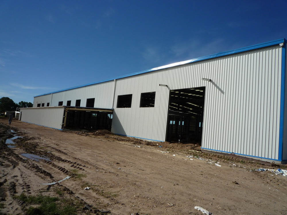cheap prefabricated rice warehouse for sale