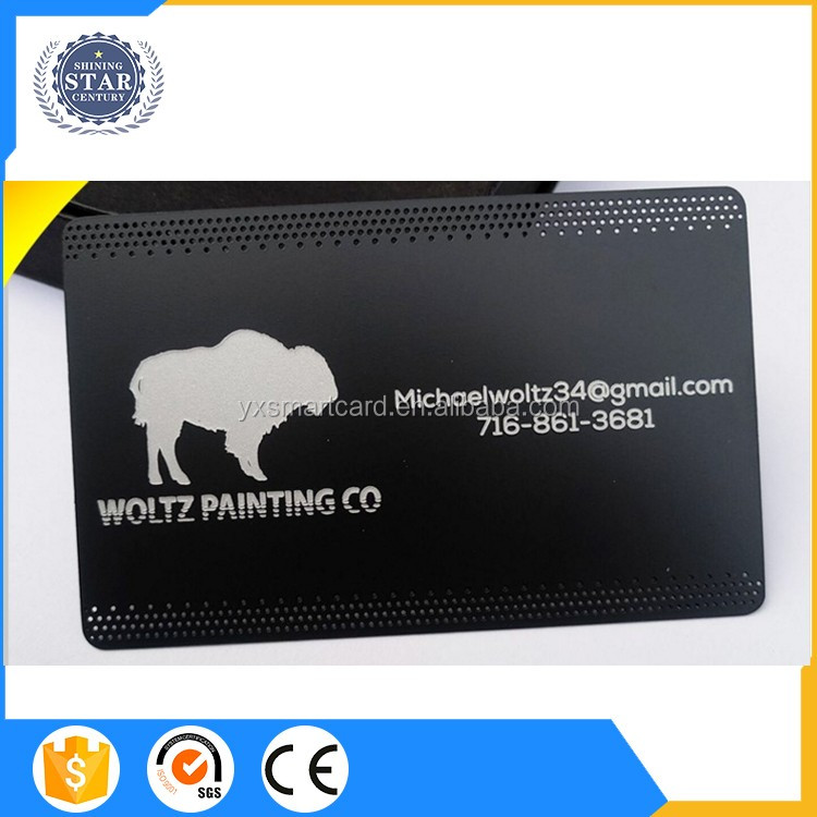 Custom Cheap Metal Business Cards China Matt Black Metal Card ...