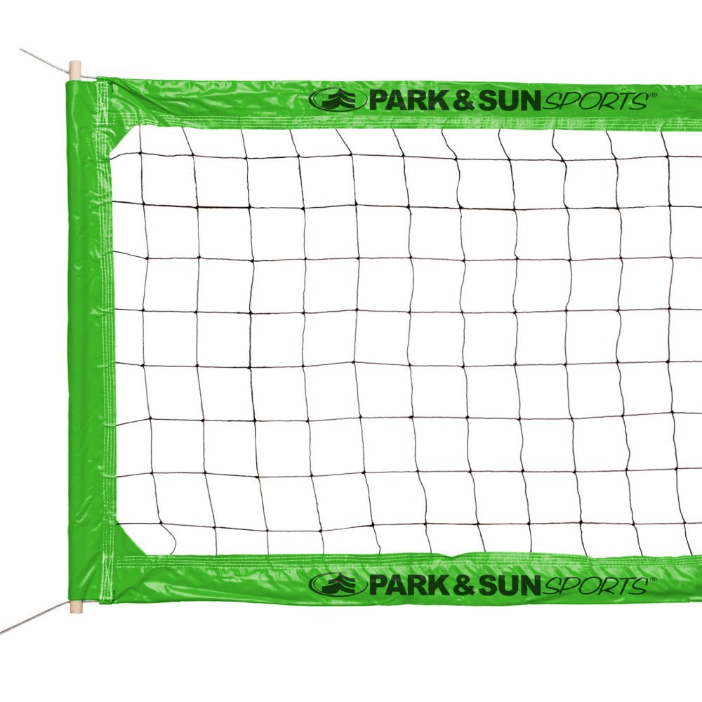 MonkeyJack Foldable Standard Official Size Outdoor Indoor Beach Volleyball Net Sports Netting with Steel Cable and Pouch