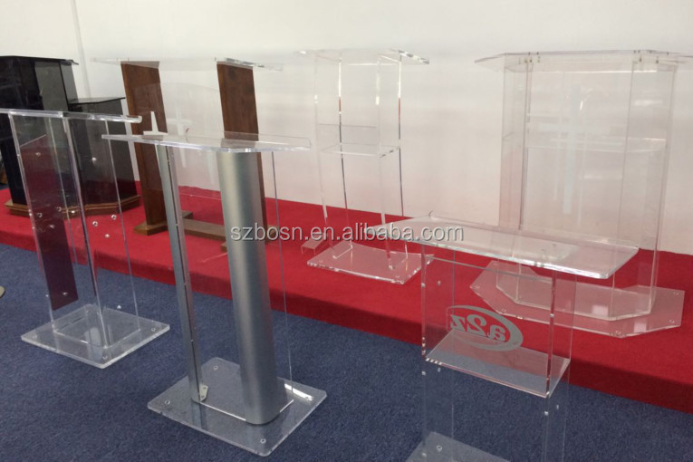 Cheap Modern Acrylic Lectern Church Podium Manufacturer