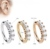 Manufacturer Fashion Jewelry Gold/Rose Gold Diamond Hoop Piercing Earrings Nose Ring