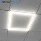 Refuse to yellow No PS Embedded square recessed commercial office ceiling lighting 595 600x600 2X2 48W LED frame panel lights