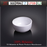 "OEM welcome unbreakable restaurant melamine bowl logo,melamine bowl soup,5.2""bowl with horizontal stripes( thicken)"