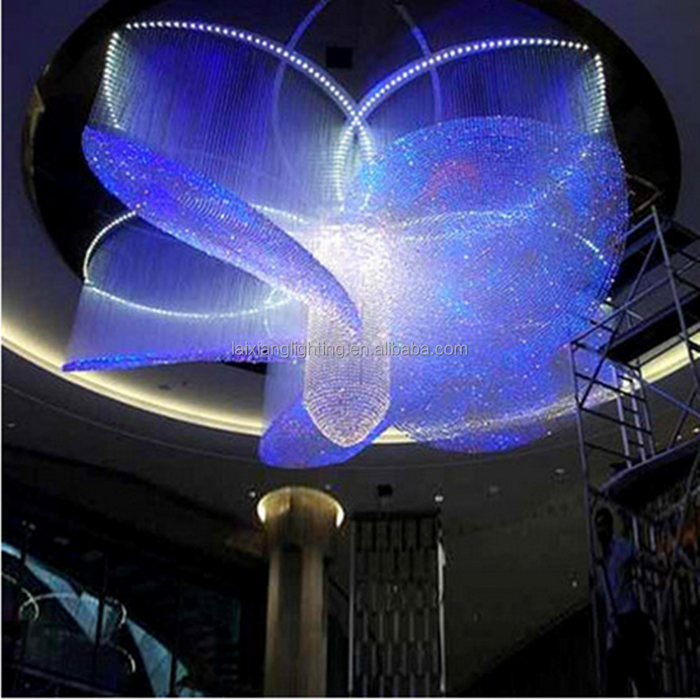 new zhongshan lighting factory plastic rgb flower