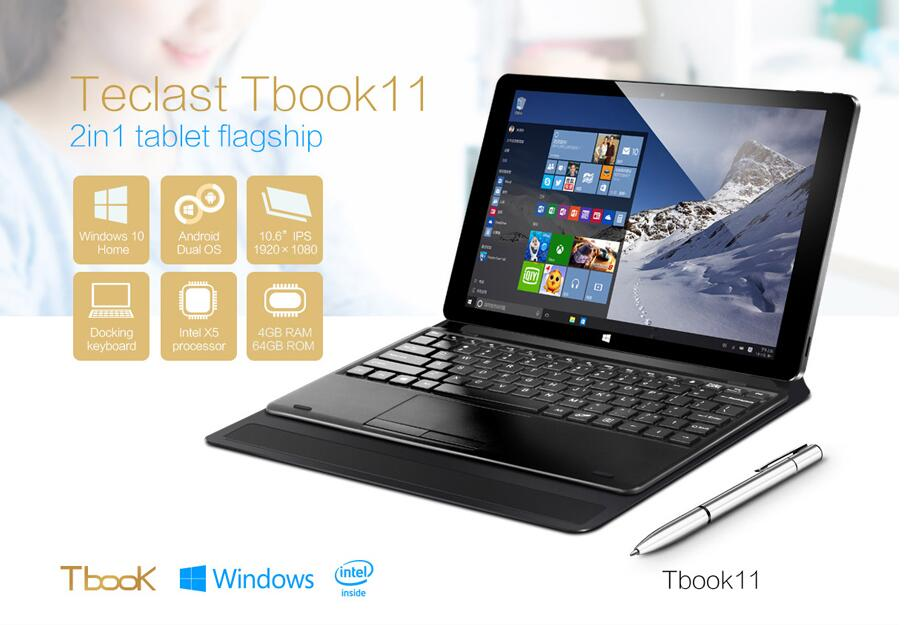 Teclast tbook 11 dual os 2 en 1 Tablet PC RAM: 4 GB Android 5.1 + viento 10 Quad Core Tablet