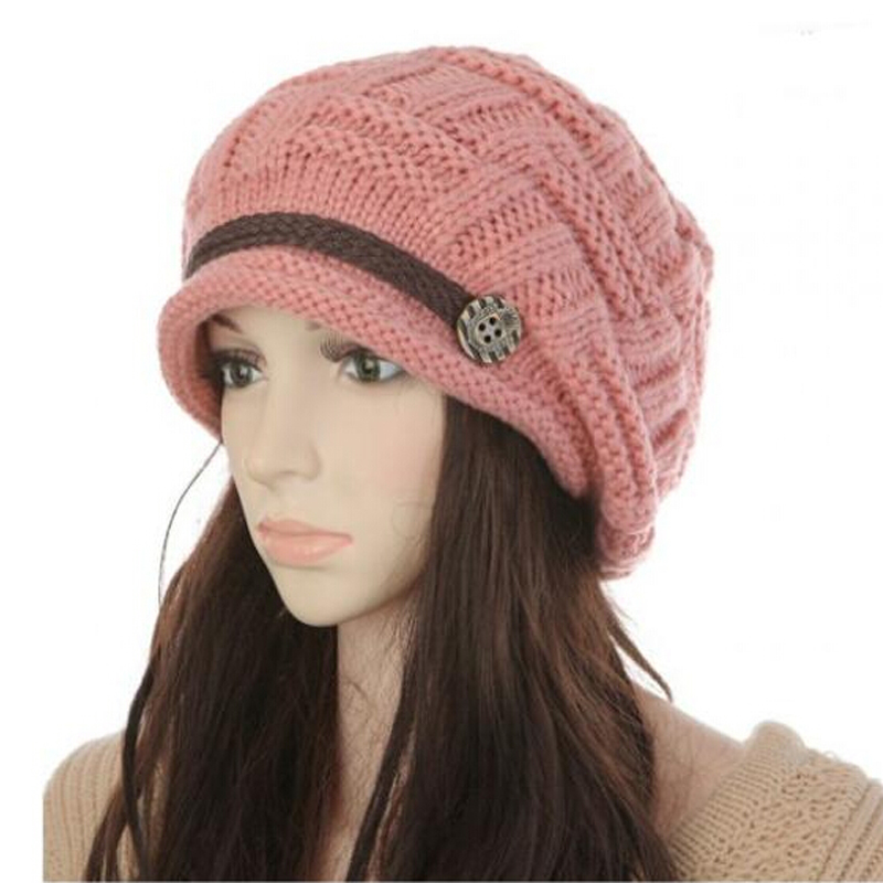 Hot  Sale Winter Warm Beret 2015 Autumn New Fashion Hats Female Casual Caps Acrylic Solid Women's Headwear Turbante Feminino