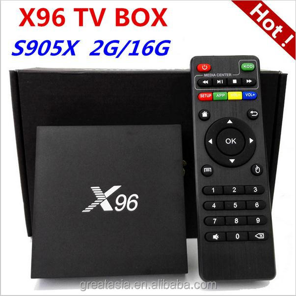 X96 S905X 64bits Android 6.0 TV BOX X96 1GB+8GB Quad Core KODI 16.1 2.4G wifi 4K Smart android tv box