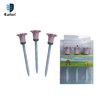 High quality good selling sporting outdoor 6Pcs/box 83mm colorful plastic golf tee holder