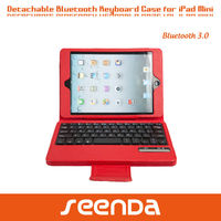 50% discount high quality PU leather bluetooth keyboard for ipad mini