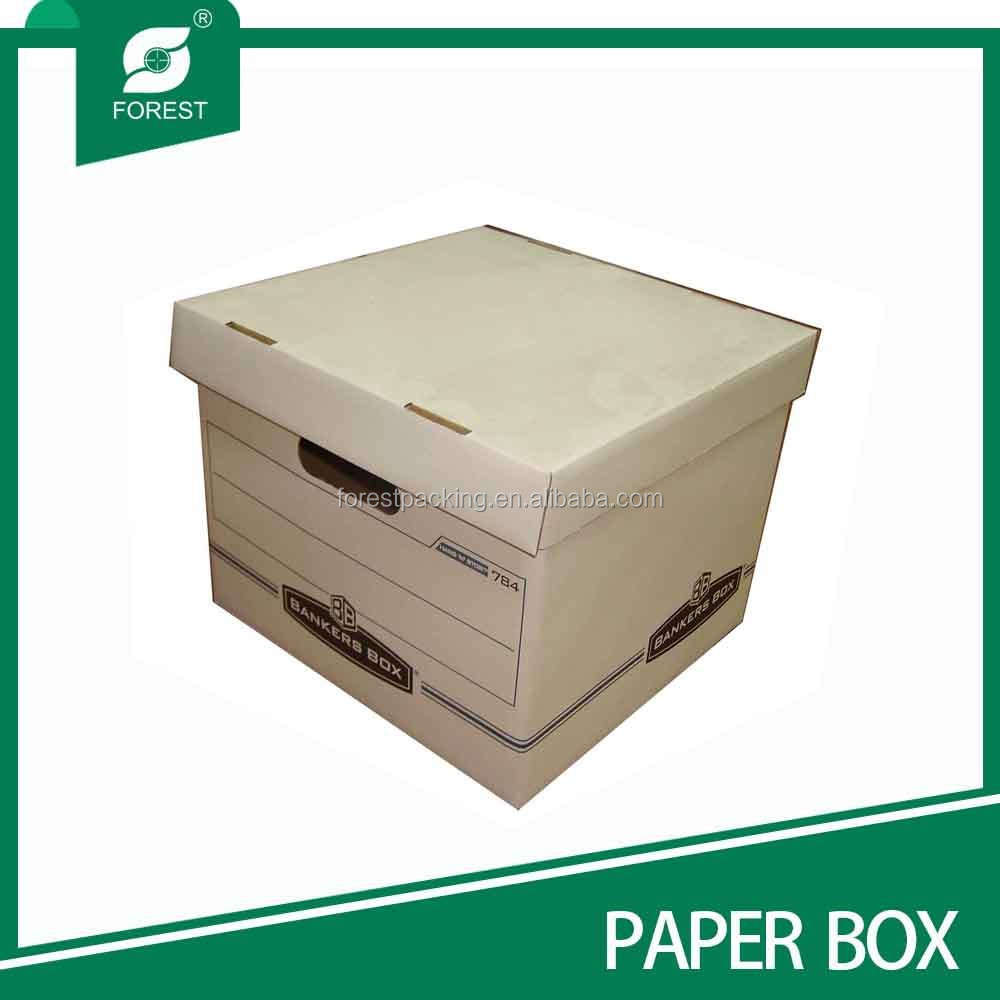 DURABLE OFFICE FILE STORAGE CARTON BOX