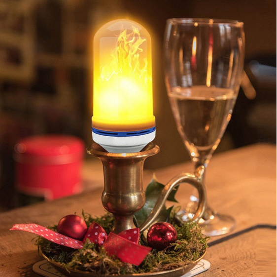 Creative Flickering Emulation Decorative burning fake fire 3W/5W/7W flame led flame bulb