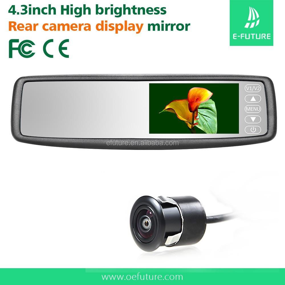 4 3 tft bildschirm auto r ckspiegel monitor mit kamera. Black Bedroom Furniture Sets. Home Design Ideas