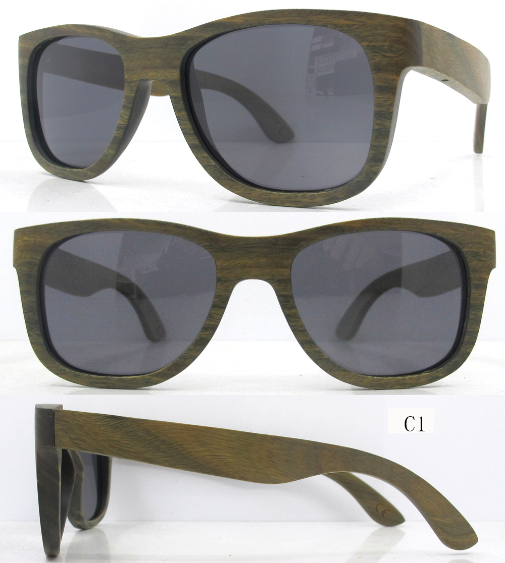 2015 дешевые деревянные очки, дерево подставил солнцезащитные очки Оптовая продажа, изготовление, производство