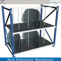 Various store tires and Car accessories rack