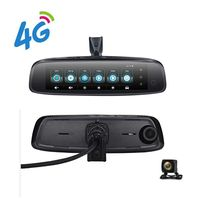 Factory Price 4G FHD 1080P Android Bluetooth WIFI GPS Navigation Rearview Mirror Car Black Box / Dash Cam 3 Lens