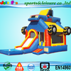 2015 new design commercial monster truck inflatable bouncer slide with pool