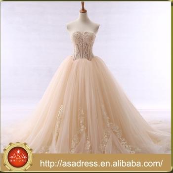 Yasa 10 Wholesale Custom Made Champagne Vintage Lace Bridal