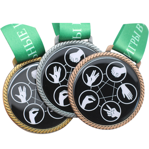 Promotion Custom Zinc Alloy 2018 Fields Medal Prediction Sport Medal With Ribbon