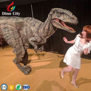 Adult Realistic Raptor Dinosaur Cosplay Costume with High Quality