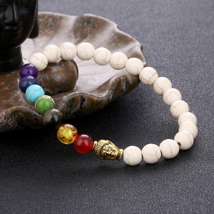 Design de mode bijoux en alliage bouddha en pierre perle bracelet, bracelets en silicone personnalisés Bon Marché
