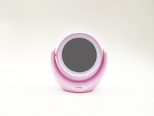 New coming OEM magnifying compact mirror with led lights table top lighted vanity mirror