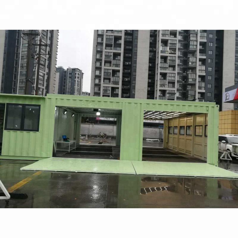 Modificato verde contenitore di trasporto di lavaggio Auto camera per la vendita