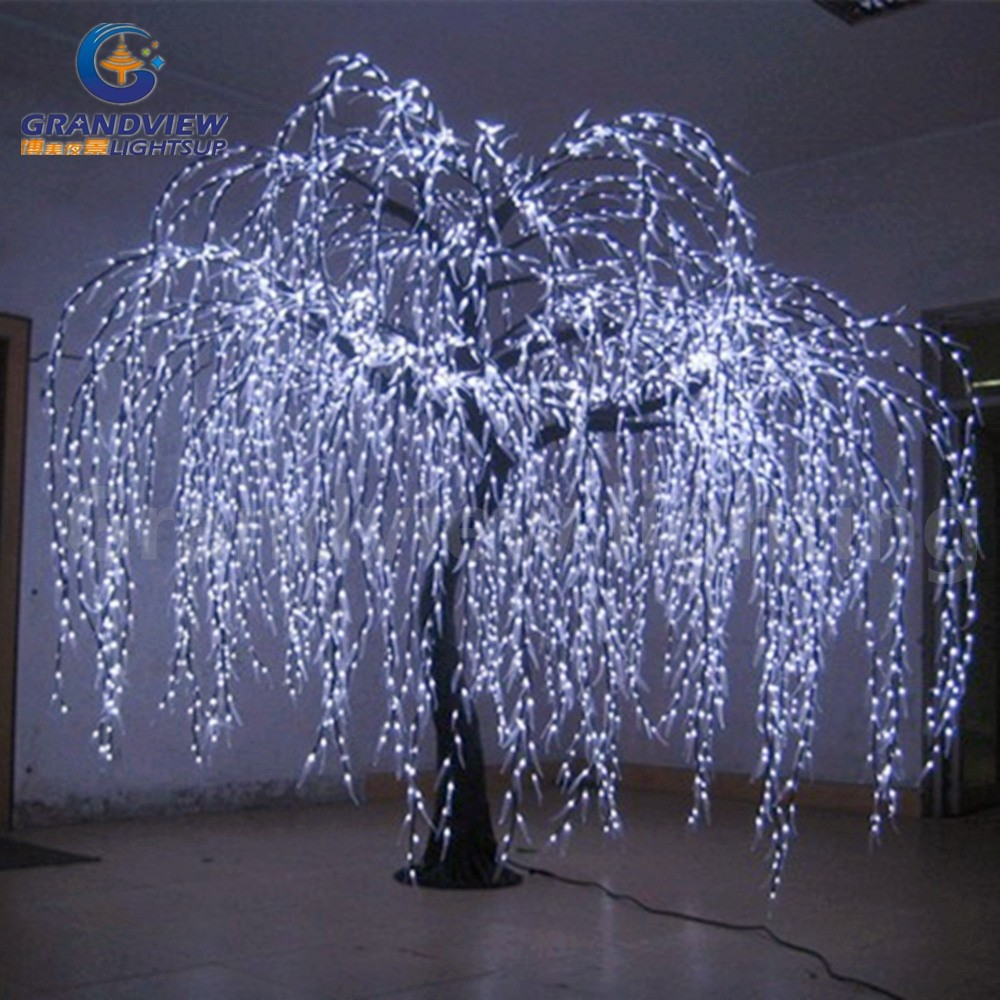 Lighted Willow Tree Real Look Trunk Led Indoor Out Door