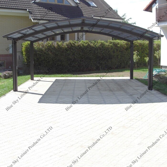 Aluminum Frame Driveway Gate Canopy Carports For Car
