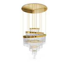 Updated energy conservation crystal tea light chandelier